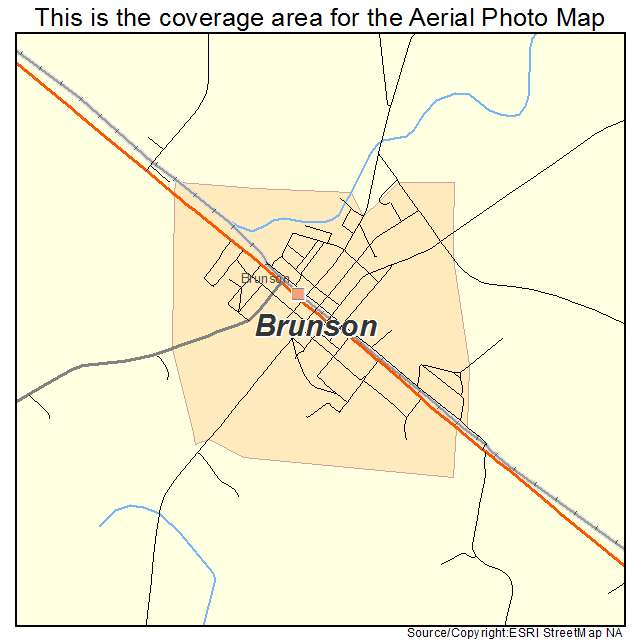 Brunson, SC location map