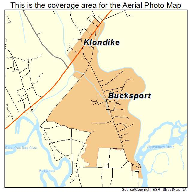 Bucksport, SC location map