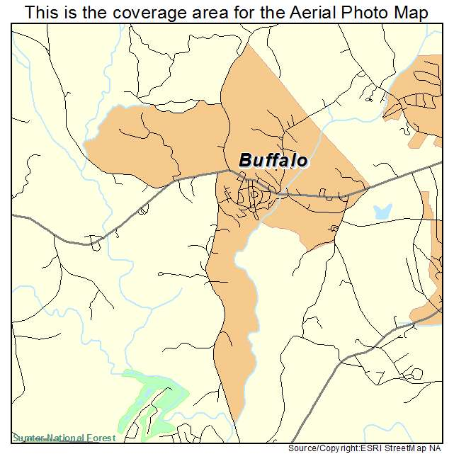 Buffalo, SC location map
