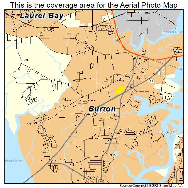 Burton, SC location map