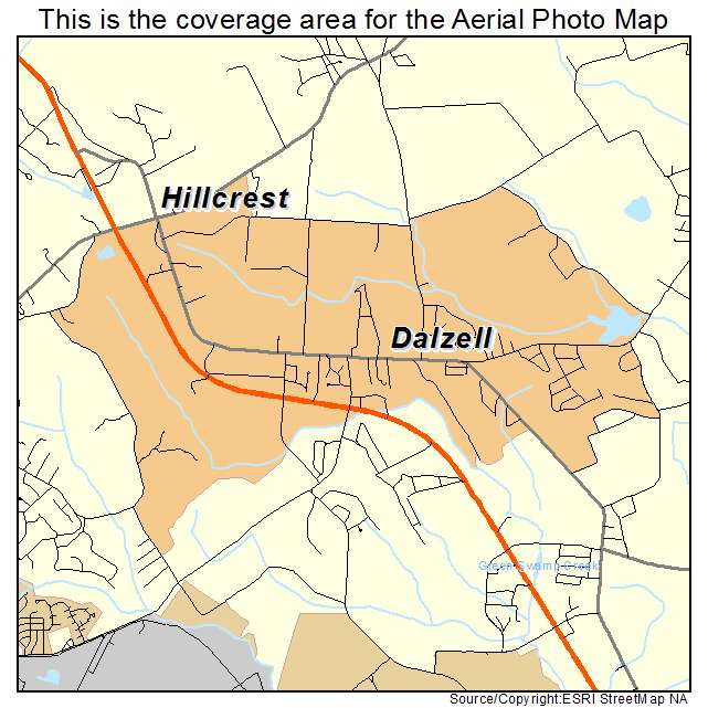 Dalzell, SC location map