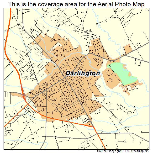 Darlington, SC location map