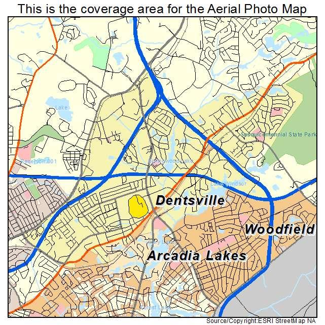Dentsville, SC location map