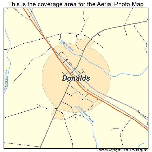 Donalds, SC location map