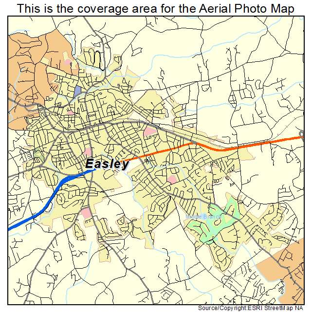 Easley, SC location map