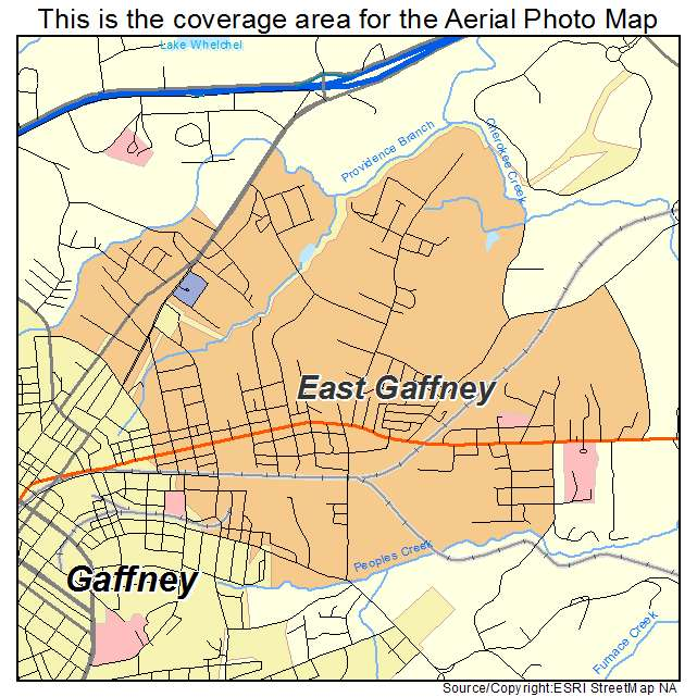 East Gaffney, SC location map