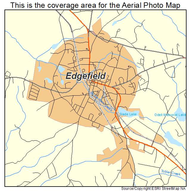 Edgefield, SC location map