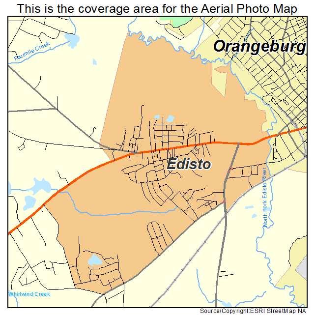 Edisto, SC location map