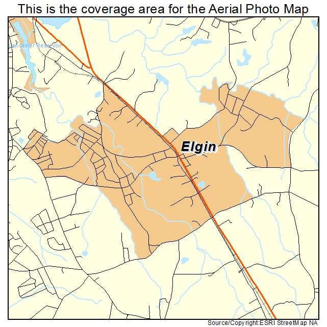Elgin, SC location map