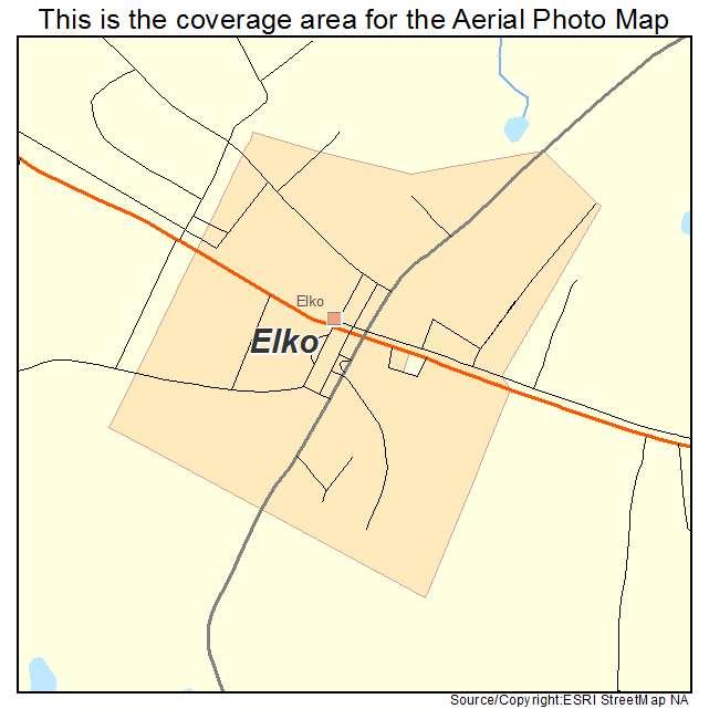 Elko, SC location map