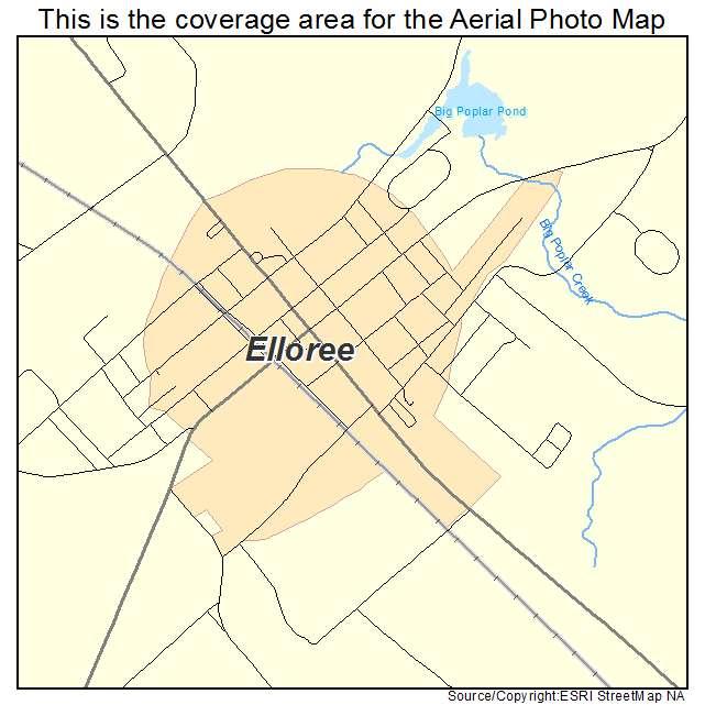 Elloree, SC location map