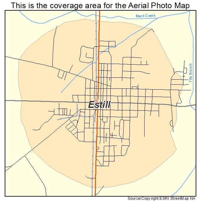 Estill, SC location map