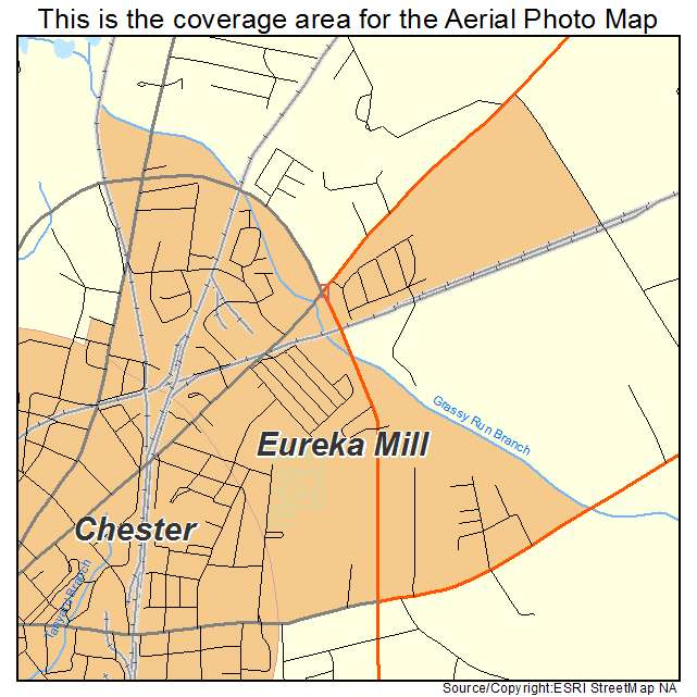 Eureka Mill, SC location map