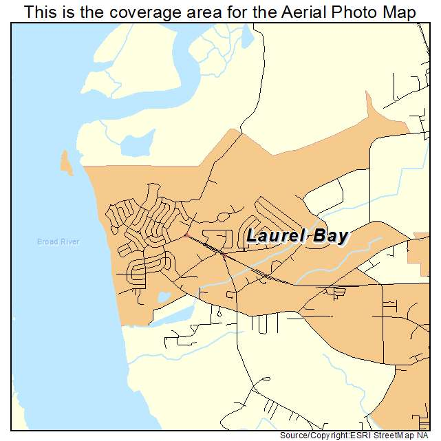 Laurel Bay, SC location map