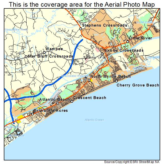 North Myrtle Beach, SC location map