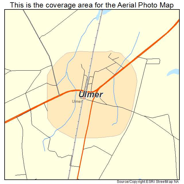 Ulmer, SC location map