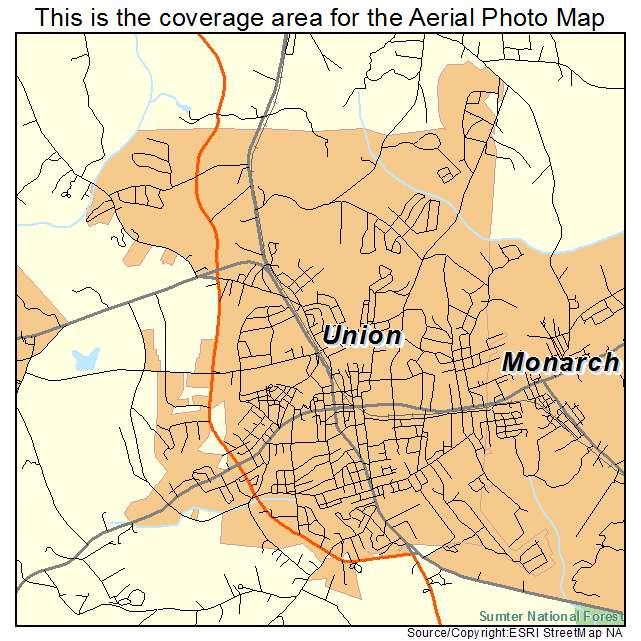 Union, SC location map