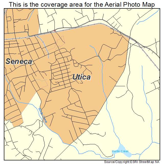 Utica, SC location map