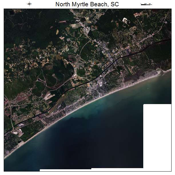 North Myrtle Beach, SC air photo map