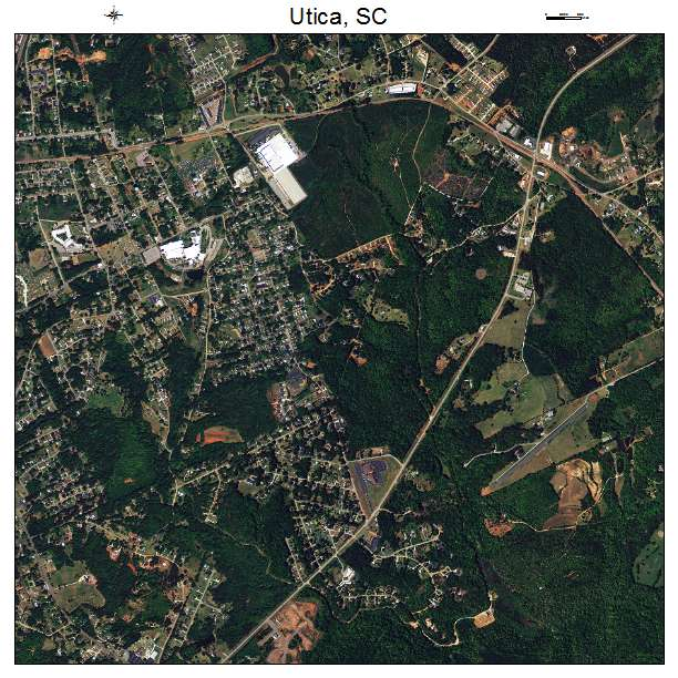 Utica, SC air photo map