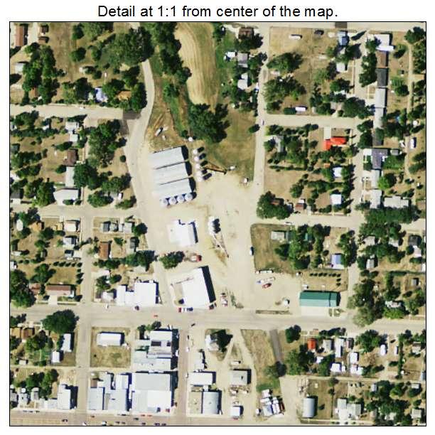 Eureka, South Dakota aerial imagery detail