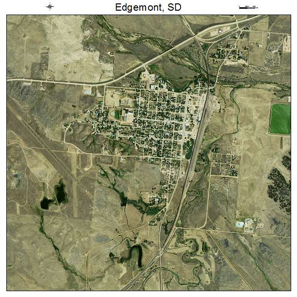 Aerial Photography Map Of Edgemont Sd South Dakota
