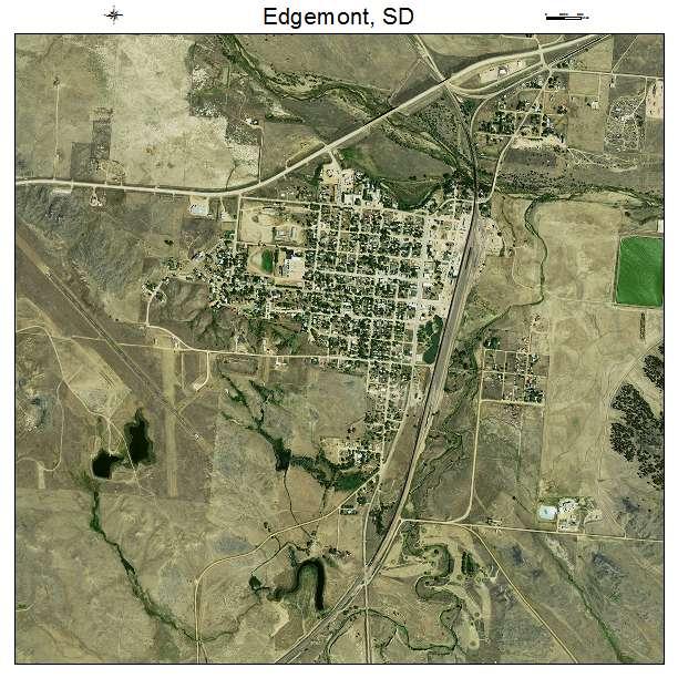 Aerial Photography Map Of Edgemont Sd South Dakota