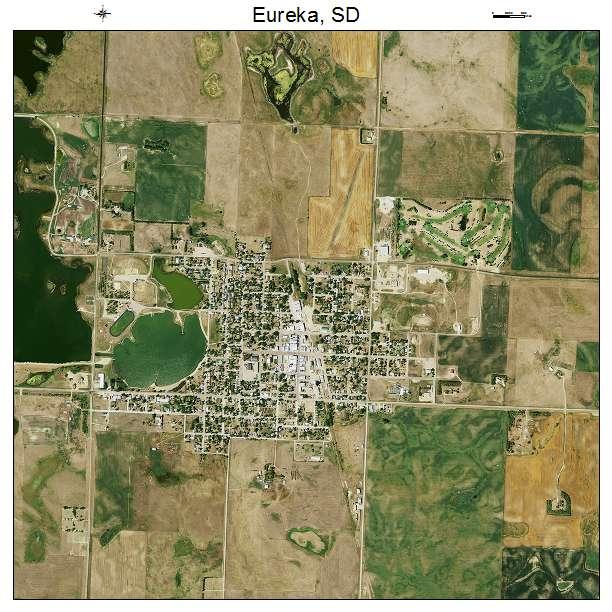 Eureka, SD air photo map