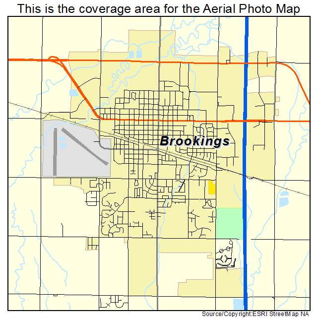 Aerial Photography Map of Brookings SD South Dakota