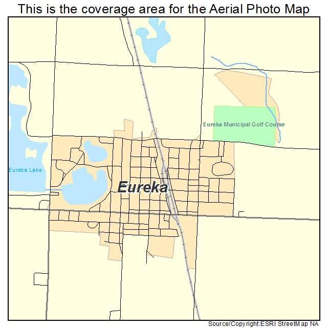 Eureka, SD location map