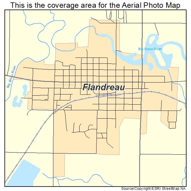 Flandreau, SD location map