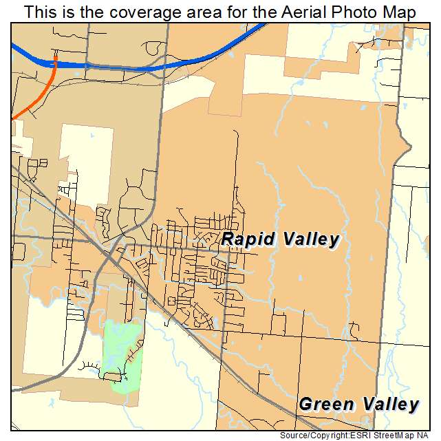 Aerial Photography Map of Rapid Valley, SD South Dakota