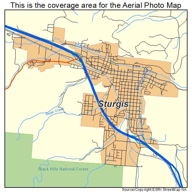 Aerial Photography Map Of Sturgis SD South Dakota