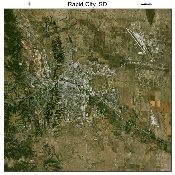Rapid City, SD air photo map