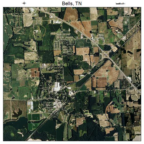 Bells Tennessee Map.Aerial Photography Map Of Bells Tn Tennessee