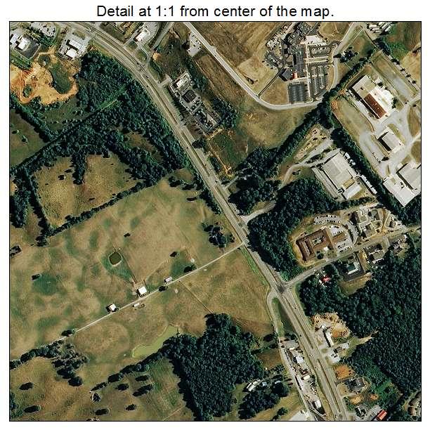Aerial Photography Map of Dandridge, TN Tennessee on