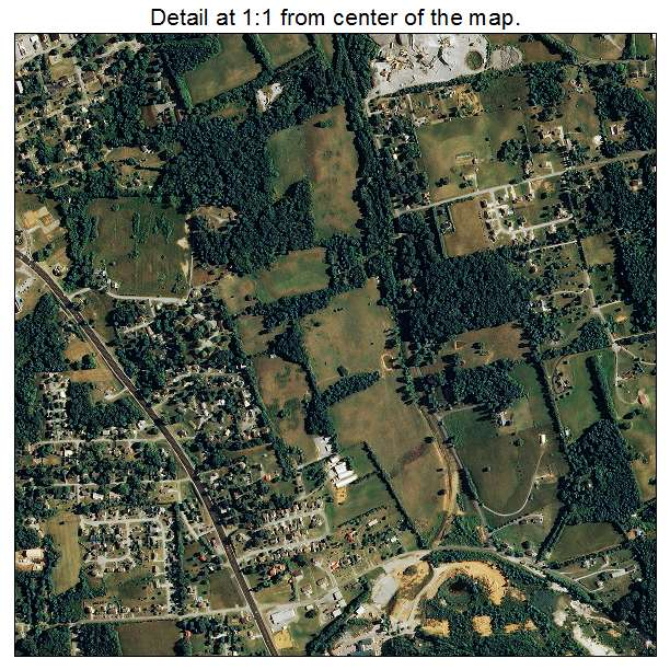 Aerial Photography Map Of Jefferson City Tn Tennessee