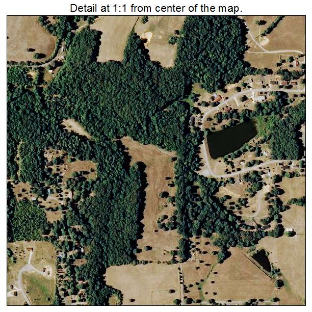 Tennessee Ridge, Tennessee aerial imagery detail