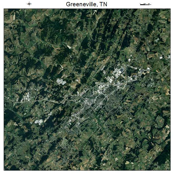 Greeneville, TN Tennessee Aerial Photography Map 2014 on