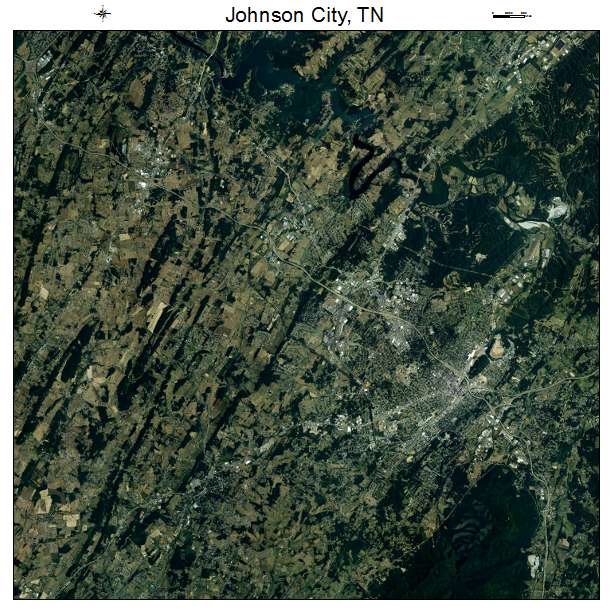 Johnson City, TN air photo map