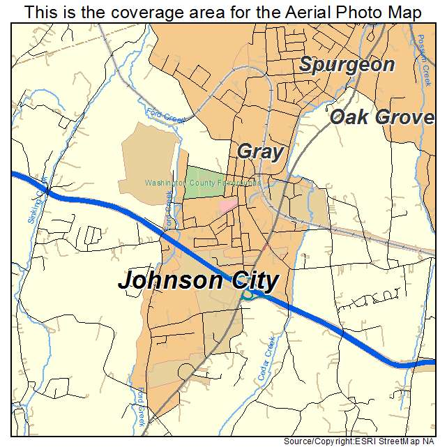 Aerial Photography Map of Gray, TN Tennessee
