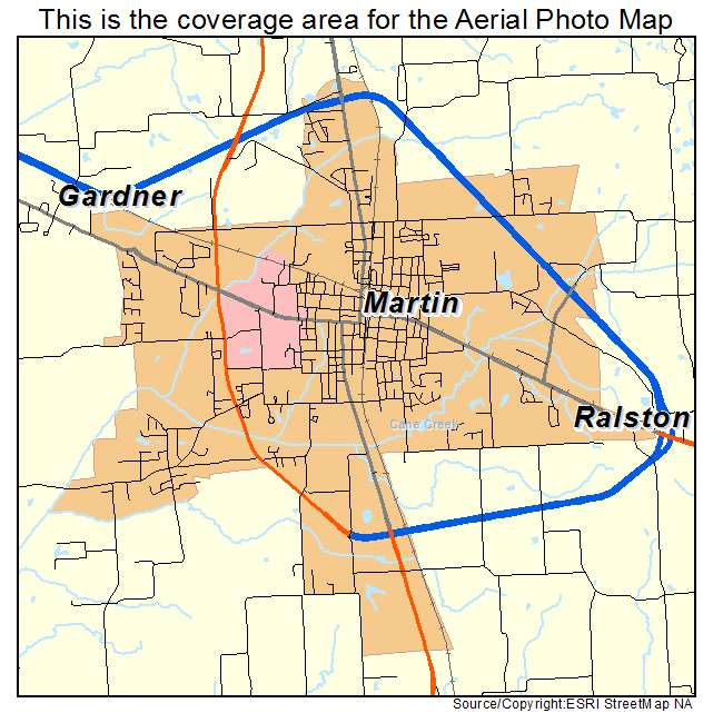 Martin Tn Tennessee Aerial Photography Map 2014
