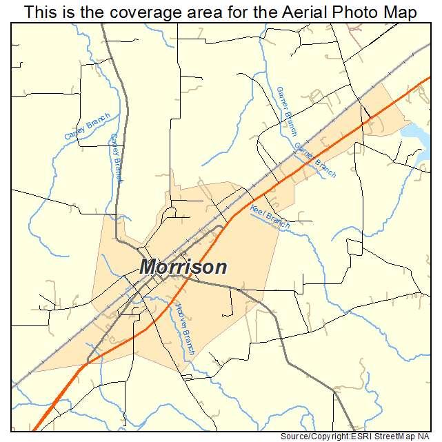Morrison, TN location map
