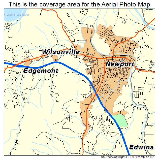 Aerial Photography Map Of Newport Tn Tennessee