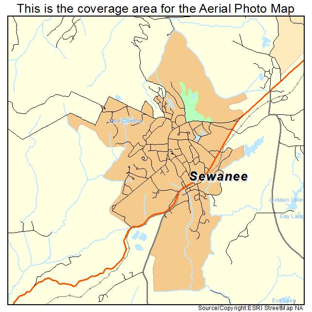 Sewanee, TN location map
