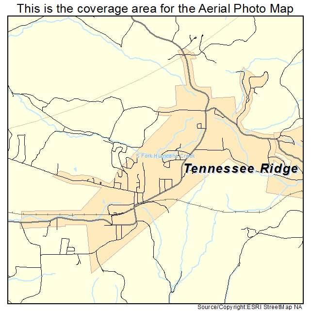 Tennessee Ridge, TN location map