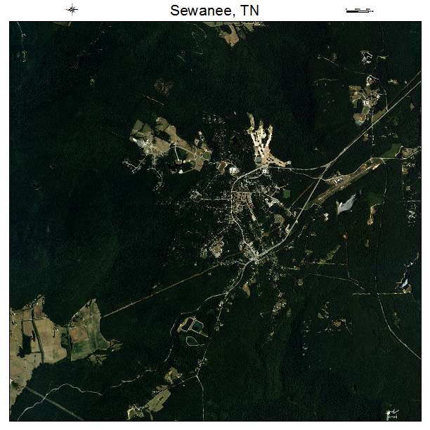 Sewanee, TN air photo map