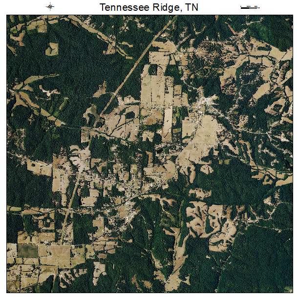 Tennessee Ridge, TN air photo map