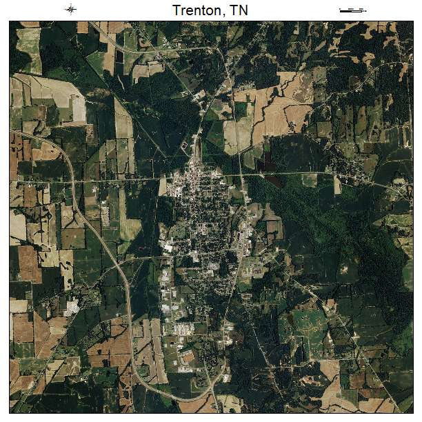 Aerial Photography Map Of Trenton TN Tennessee