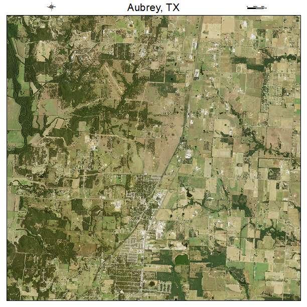 Aubrey, TX air photo map